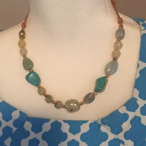 Gorgeous Stone Necklace in Shades of Blue & Green